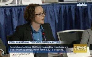 GOP delegate Rachel Hoff