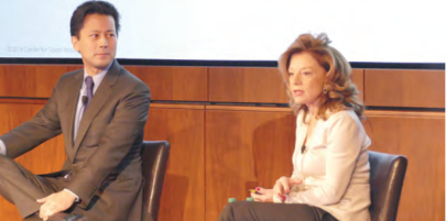 Study co-authors Kenji Yoshino, the Chief Justice Earl Warren Professor of Constitutional Law at New York University, left, and Center for Talent Innovation founder and CEO Sylvia Ann Hewlett.